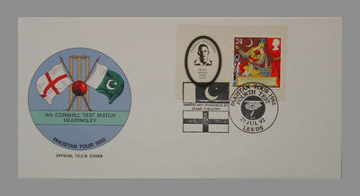 1992 Pakistan's England Tour, 4th Cornhill Match, Headingley stamped 25/7/92; Documents and books; M7755