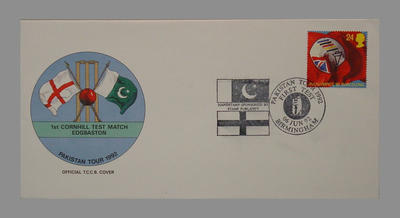 1992 Pakistan's England Tour, 1st Cornhill Match, Edgbaston stamped 6/6/92; Documents and books; M7752