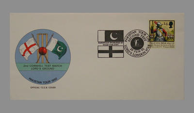 1992 Pakistan's England Tour, 2nd Cornhill Match, Lord's Ground stamped 20/6/92; Documents and books; M7753