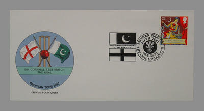 1992 Pakistan's England Tour, 5th Cornhill Match, The Oval stamped 3/8/92; Documents and books; M7756