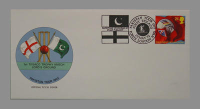 1992 Pakistan's England Tour, 1st Texaco Trophy Match, Lord's Ground stamped 20/5/92; Documents and books; M7757