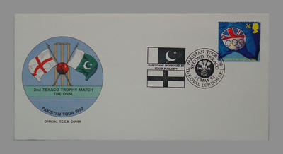 1992 Pakistan's England Tour, 2nd Texaco Trophy Match, The Oval stamped 22/5/92; Documents and books; M7758