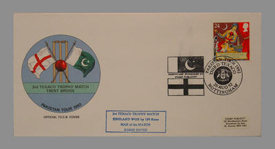 1992 Pakistan's England Tour, 3rd Texaco Trophy Match, Trent Bridge stamped 20/8/92; Documents and books; M7759