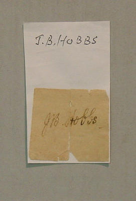 slip of paper with the signature of cricketer John Berry  Hobbs; Documents and books; M7903