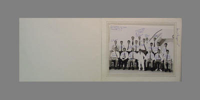 Photograph of English XI on board P&O SS Canberra, 1962-63 Tour of Australia