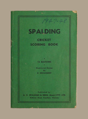 Score book, McConchie Cricket Club - 1947-48 season