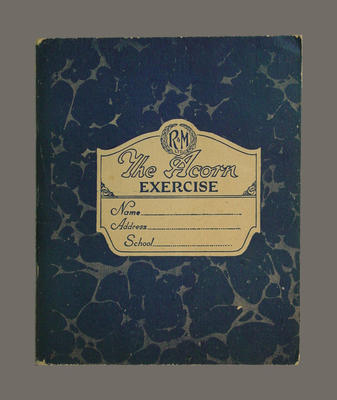 Exercise book, McConchie Family Cricket Club match analysis - seasons 1908/09-1936/37