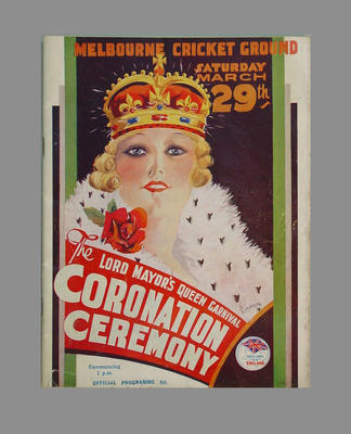 Programme: The Lord Mayor's Queen Coronation Carnival, MCG, 29 March 1941