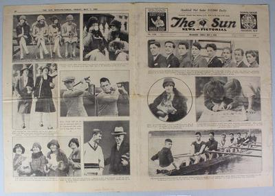 """Newspaper page, """"The Sun"""" - 7 May 1926"""