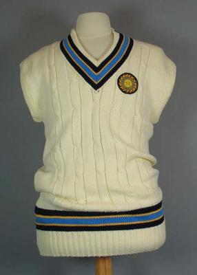 Cricket vest, worn by Sachin Tendulkar during 1999 Boxing Day Test
