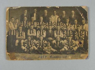 Photograph of East Brunswick FC, 1927 VFLSDA Runners-Up; Photography; 1988.1910.20