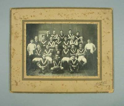 Photograph of East Brunswick Junior FC, 1924; Photography; 1988.1910.24