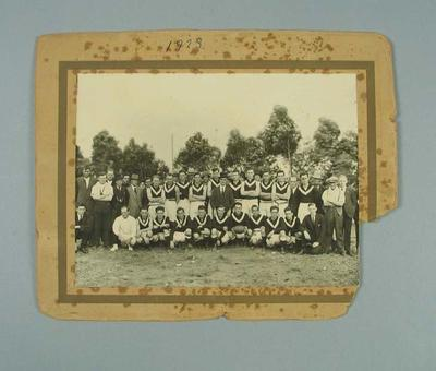 Photograph of East Brunswick FC, c1922-23; Photography; 1988.1910.27