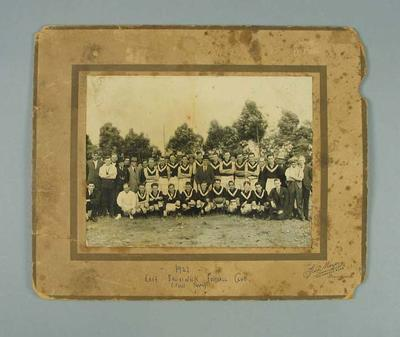 Photograph of East Brunswick FC, c1922-23; Photography; 1988.1910.28