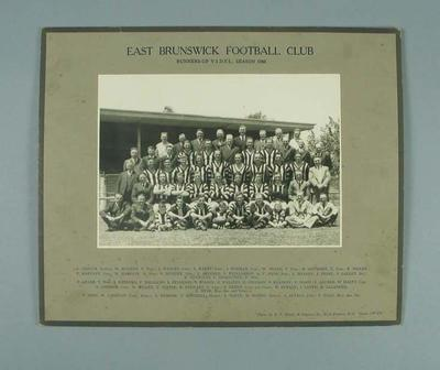 Photograph of East Brunswick FC, 1946; Photography; 1988.1910.33