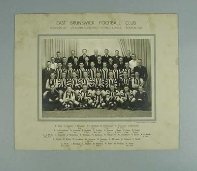 Photograph of East Brunswick FC, 1945; Photography; 1988.1910.36