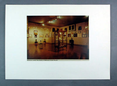 "Photograph, ""Melbourne Cricket Club Gallery at Melbourne Cricket Ground"""