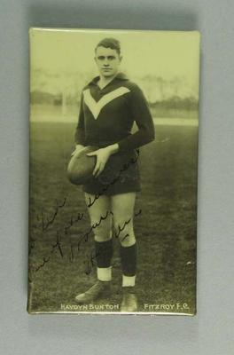 Photograph of Haydn Bunton, c1920s