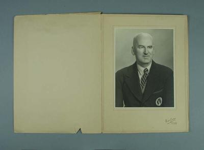 Portrait photograph of Percy Mitchell, c1948; Photography; 1988.1910.49