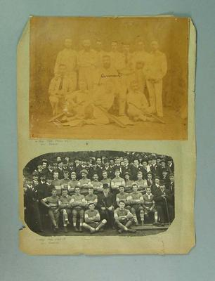 Mounted photographs related to Carlton FC, c1874-81