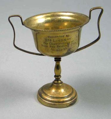 Trophy, Rose Bay Bowling Championship 1932-35