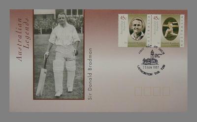 First Day Cover 23/1/1997 Launceston - Australian Legends: Sir Donald Bradman