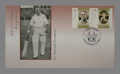 First Day Cover 23/1/1997 St. Peters Cathedral North Adelaide - Australian Legends: Sir Donald Bradman