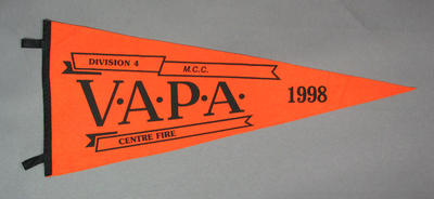 Pennant for VAPA Centre Fire Division 4, 1998