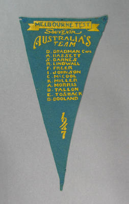 Pennant, Australian cricket team - 1947 Melbourne Test