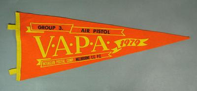 Pennant for VAPA Air Pistol Group 3, 1979