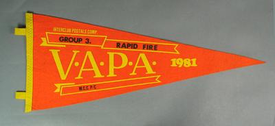 Pennant for VAPA Rapid Fire Group 3, 1981