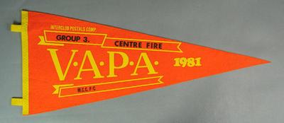 Pennant for VAPA Centre Fire Group 3, 1981