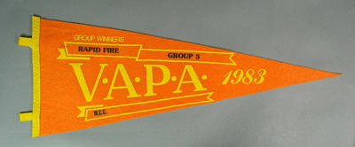 Pennant for VAPA Rapid Fire Group 5, 1983