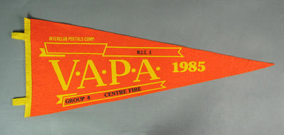 Pennant for VAPA Centre Fire Group 4, 1985; Flags and signage; M8746