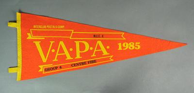 Pennant for VAPA Centre Fire Group 4, 1985