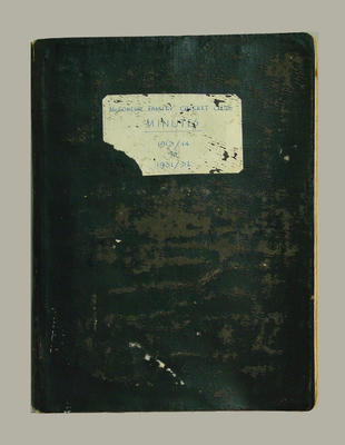 """Minute book, """"McConchie Family Cricket Minutes 1913-14 to 1931-32""""; Documents and books; Documents and books; Documents and books; Documents and books; M7549.42"""