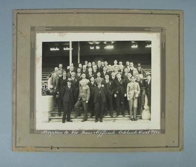 Photograph - Victorian State Football Team Reception, Adelaide Oval 1932; Photography; 1989.2114.13