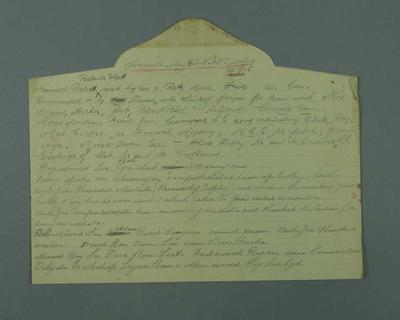 """McConchie CC Annual Report, plus Batting & Bowling Averages Season 1924/5"", 3 handwritten pages"