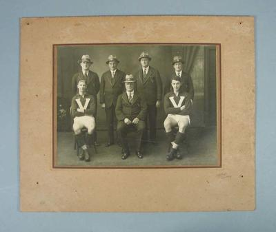 Photograph - Studio portrait, Wilfred Smallhorn and Haydn Burton with Officials; Photography; 1989.2114.14