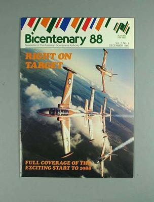 """Magazine, """"Bicentenary 88"""" - vol 7 no 4, Dec 1987"""
