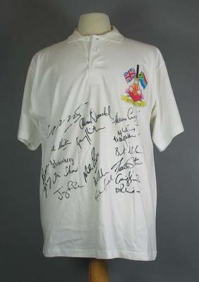 Autographed polo shirt, South African cricket team tour of England - 1994