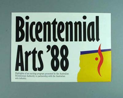 Poster, Bicentennial Arts '88