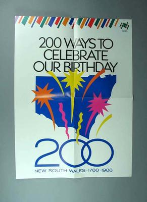 Poster, New South Wales Bicentennial 1988