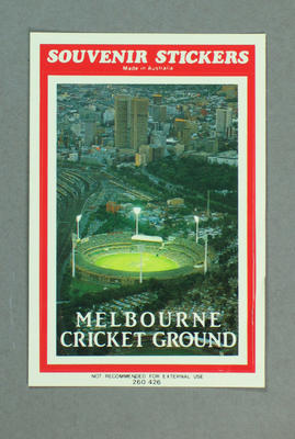 Sticker, image of Melbourne Cricket Ground at night