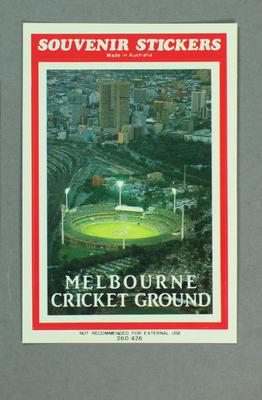Sticker, image of Melbourne Cricket Ground at night