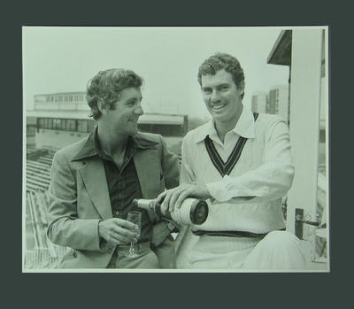 Photograph of Mike Brearley & Greg Chappell, Old Trafford - 1977