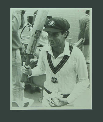 Photograph of Greg Chappell leaving cricket field after batting, SCG - 1984