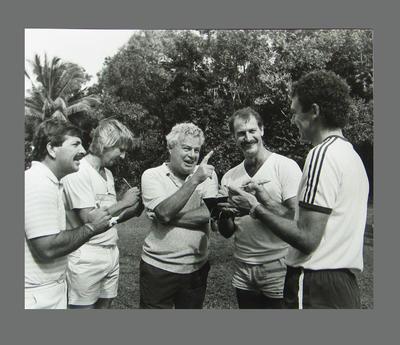Photograph of Rod Marsh, Jeff Thomson, Dennis Lillee & Greg Chappell, Dunk Island; Photography; M9910