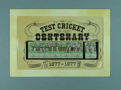 Stamps commemorating Test Cricket Centenary, 1877-1977