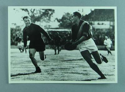 Photograph of Ambrose Palmer playing for Footscray FC, c1930s